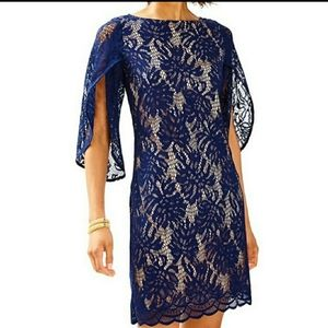 """Lilly Pulitzer Blue Lace """"Bellmont"""" Dress"""